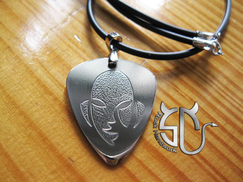 Free shipping Silva wanderlei face logo KO master stainless steel handmade pick pendant necklace for men