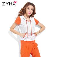 2013 summer fashion casual set short-sleeve sports set female sweatshirt set