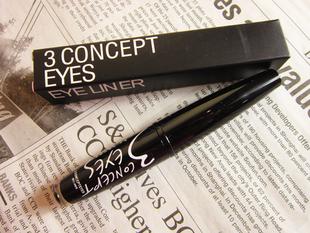 free shipping 3concept eyes nude makeup eyeliner liquid ultrafine 118 soft black eyeliner liquid 12pcs(China (Mainland))