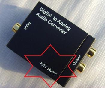 Free shipping Hi-Fi Digital Audio Optical Coaxial  to Analog 2.0 Audio signal Converter DAC for  APPLE TV DVD PS3  XBOX  PC