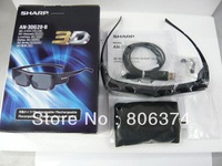 3 x S har p 3D AQUOS TV Active Glasses AN-3DG20-B AN3DG20B