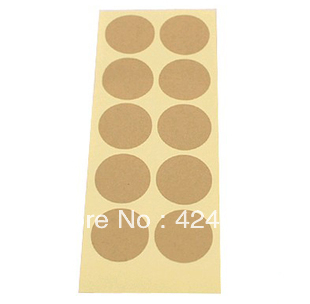 solid color, round shap kraft paper3.5*3.5cm stickers,best price in aliexpress!900 pcs(China (Mainland))