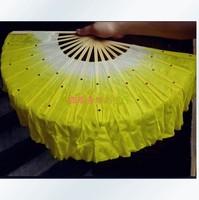 dance props yangko fan 100% pure silk dance fan 42cm length 10pcs/lot