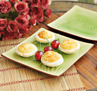 8.5 flat curve table cold dish plate swing sets sushi