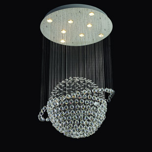 Globe modern led crystal pendant lamp ceiling light d8031(China (Mainland))