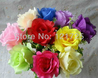 free shipping,artificial silk single rose flowers artificial plants,8 colors for choose