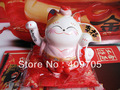 11cm mini waving lucky cat maneki neko fortune cat creative craft gifts chinese fengshui decor wedding gift decor SC53350