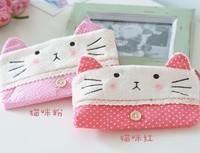 6PCS Cute Plush Kitty Cat Plush Pen Pencil BAG Pouch Case Packs ; Pendant Cosmetic & Beauty Pouch Bag Case Coin Purse Wallet BAG
