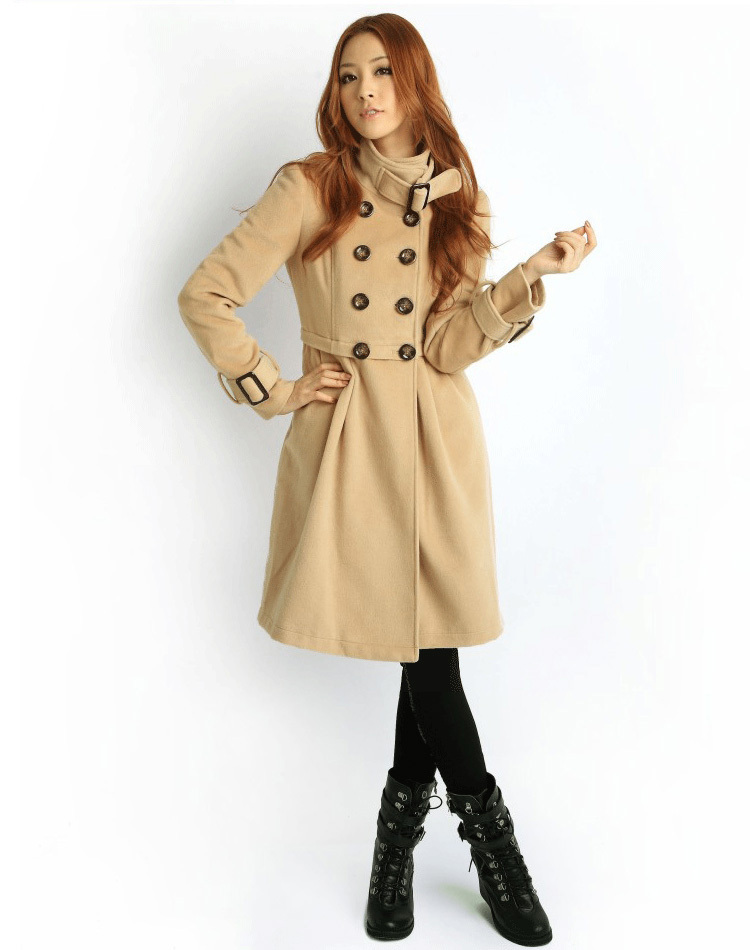 (No) [plus cotton version] new ladies windbreaker jacket leisure long coat 5137(China (Mainland))