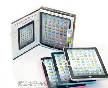 Free shipping Russian Y-pad table farm learning chinlren's computer tablets laptop new year's toys gift