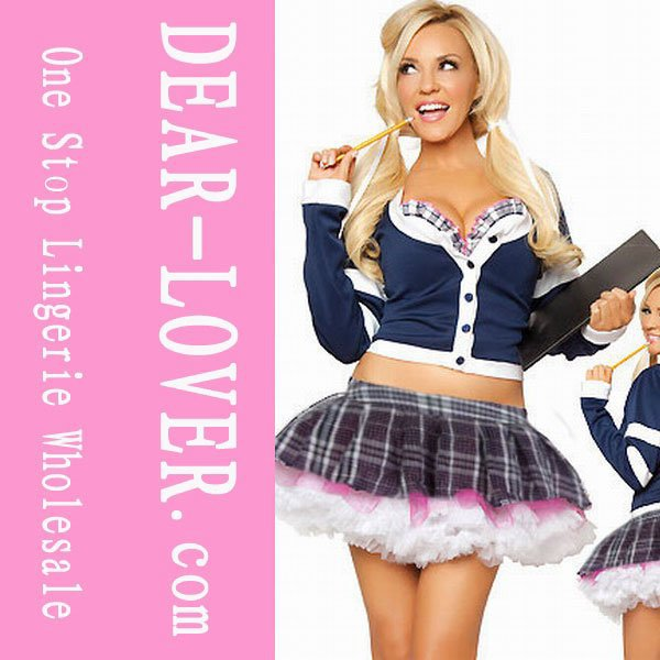 Free shipping 13 new arrivalCollege Babe School Girl Sexy Costume LC8534 + Cheaper price + Free Shipping Cost + Fast Delivery(China (Mainland))