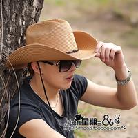 Wholesale Price 2015 Hot Selling Cowboy Hat Men Straw Hat Fishing Hats for Men Straw Cowboy Hats
