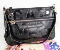 Embossing word leather bag genuine leather bag calf skin shoulder bag cross-body bag small horizontal dual-use package bag