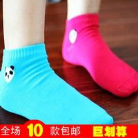 M819 candy color socks cartoon panda head portrait sock slippers 2013