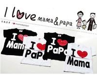 Baby clothesT-shirt, i love papa mama baby shirt/T-Shirt boy & girl Short-Sleeve long-sleeve Shirt,Infants&Toddlers T shirt
