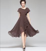 New Fashion 2013 Summer Women Dress Designer Style Elegant Dresses for Lady Special Edition V-Neck Ruffles Long Dresses