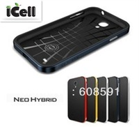 High Quality Neo Hybrid Spigen SGP Back case for Samsung Galaxy S4 I9500 +screen protector+retail package 10pcs/lot freeshipping