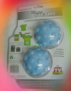Free shipping,10packs/lot(1 pack=2 pcs) MISTER STEAMY Dryer Balls - Reduce Wrinkles Steam(China (Mainland))