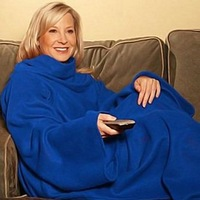 Hot sale Snuggie Original Fleece Blanket with Sleeves BCRF Blue