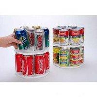 Free Shipping 1pcs can revolving lazy susan 2 tier rotating kitchen cabinet organizer