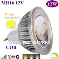 5pcs/lot High Power MR16 12V GU5.3 85-265V 12W COB LED lighting Spotlight  led bulb Led light led lamp free shipping