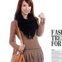 YBB C193 60x28cm Korean Autumn And Winter Sweet Girl Hollow Wool Fringed Scarf Shawl Collars Wholesale