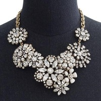 FLOWER LATTICE statement NECKLACE Breathtaking blooms, crystal j.e.w.e.l crew