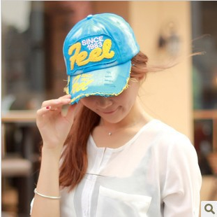 YBB 2013 new Korean Feel letters cowboy couple cap baseball hat children cap wholesale B166(China (Mainland))