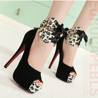 2013 spring high-heeled shoes open toe shoes single shoe leather thick platform heels shoes