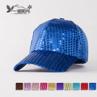 2013 Paillette hat baseball cap hip-hop dance cap performance cap  free shipping