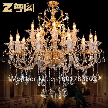 Respect the Court luxury gold import crystal lamp European lamp Duplex living room crystal chandelier Z059 Vienna(China (Mainland))