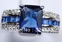 Genuine Blue Tourmaline Tanzanite Silver Ring  #1624