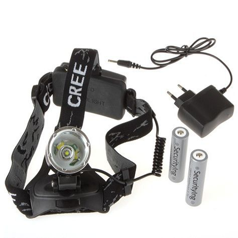 1600 Lumens Cree XM-L T6 LED Bicycle Headlamp With 2X 18650 Batteries + EU / AC Charger For Outdoor Sports Safety Lighting(China (Mainland))