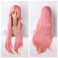 Halloween Free shipping anime wig pink 80cm/32'' long straight  full cosplay wig high temperature synthetic hair