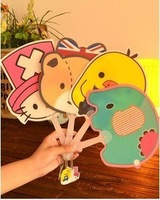 Kawaii Cartoon Rilakkuma&Chick&Elephant&Hello Kitty Pvc Cooling Mini Hand Fan Summer-Promotion Gift,100pcs/lot,Free Shipping
