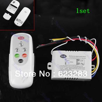 1 set New 3 Ways ON/OFF 220V-240V Light Digital Wireless Wall Switch + Remote Control Free Shipping