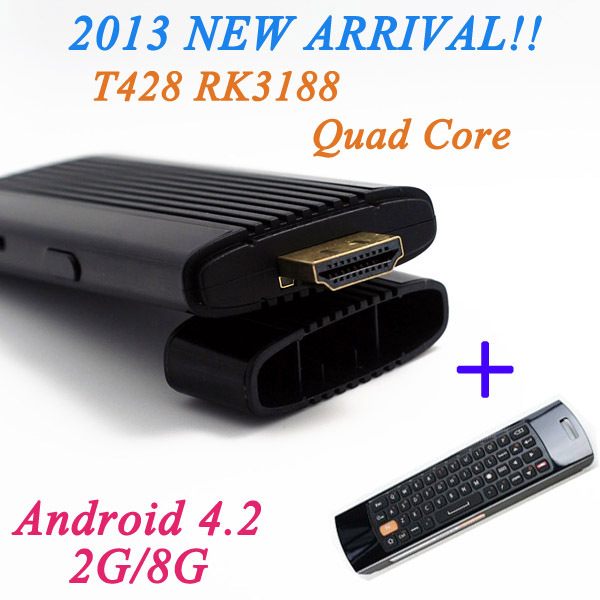 New RK3188 Android 4.2 Quad Core Internet TV Box With F10 Fly Mouse Free Shipping(China (Mainland))