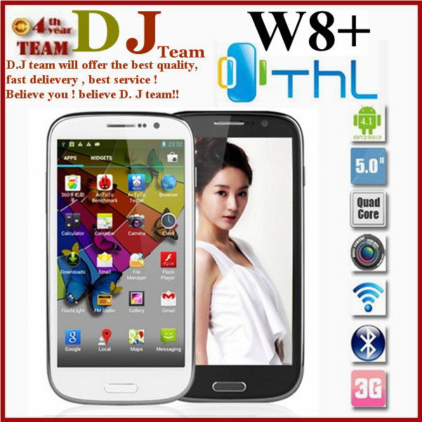 MTK6589 Quad core THL W8+ phone 5.0 inch FHD 1920*1080 1G RAM 16G ROM 12MP Camera In Stock HK Freeshipping(China (Mainland))