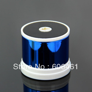 bluetooth speaker A1023 support TF MP3 player with mic Answer the call for phone pad for beatbox 2pcs/lot+free shipping(China (Mainland))