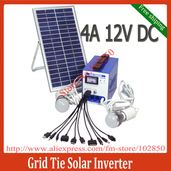 Free Shipping 12V,6W mini Portable solar power system,4AH DC ,all-in-one designed Built-in controller battary box