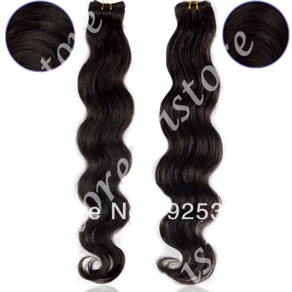 5Pcs/Lot 16-20&amp;quot; Virgin Human hair Brazilian Hair Extensions Body Wavy Weaving Weft FASHION Retail 7494(China (Mainland))
