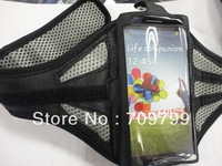 Free Shipping + Drop Ship with Tracking Number Solf Sport Armband Case For Samsung Galaxy S4 SIV 9500 i9500 BLACK/SILVER