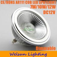 2pcs/pack Ar111 7W/10W/12W Dimmable LED Bulb COB LED Spot Light