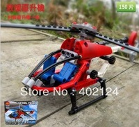 DIY mechanical assembly helicopter 3336 puzzle toy plane model / Welcome wholesale factory direct