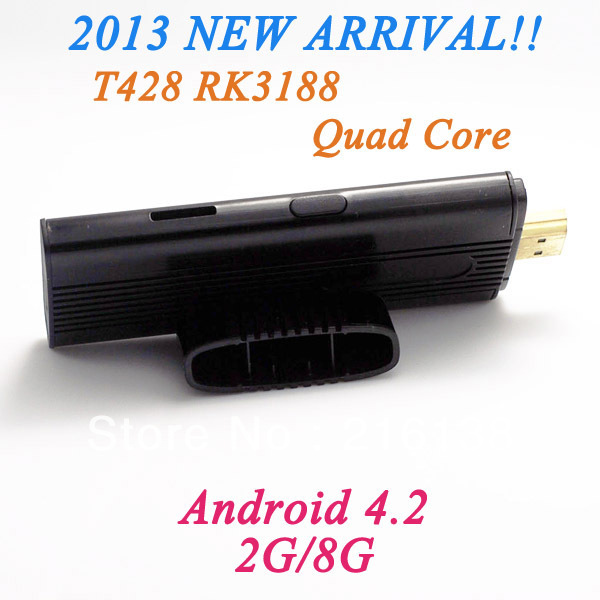 HOT!!! Smart T428 Android 4.2 Jelly Bean streaming media player Cortex-A9 1.8GHz 2G/8G digital television With free shipping(China (Mainland))