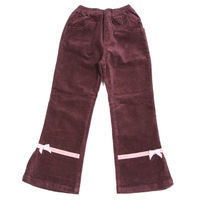 Children's autumn and winter clothing female child trousers thickening corduroy pants 100% casual cotton trousers children's