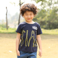 2013 male child summer sports casual basic shirt 100% T-shirt cotton o-neck short-sleeve shirt