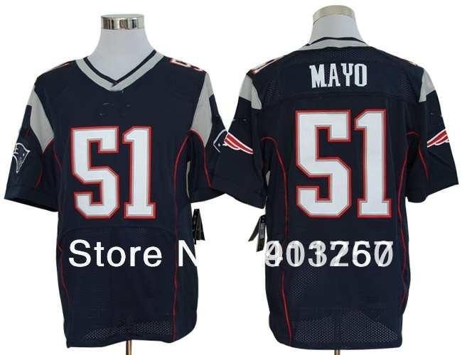 2012 New Elite- New England Pat.#51 Jerod Mayo blue jerseys,American Football Jerseys,mix order,free shipping,sport jerseys(China (Mainland))