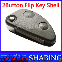 NEW ALFA ROMEO 147 156 GT JTD TS FLIP BLADE FOB  2 Button REMOTE CONTROL KEY  Shell With soft rubber