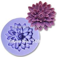 Free shipping!!! Mini 5.1x4.8x1.4cm Flower (F0198)  Silicone Handmade Fondant  Crafts DIY Mold Cake Decorating